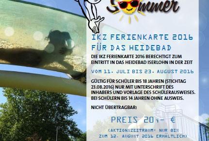 IKZ Ferienkarte 2016 für das Heidebad