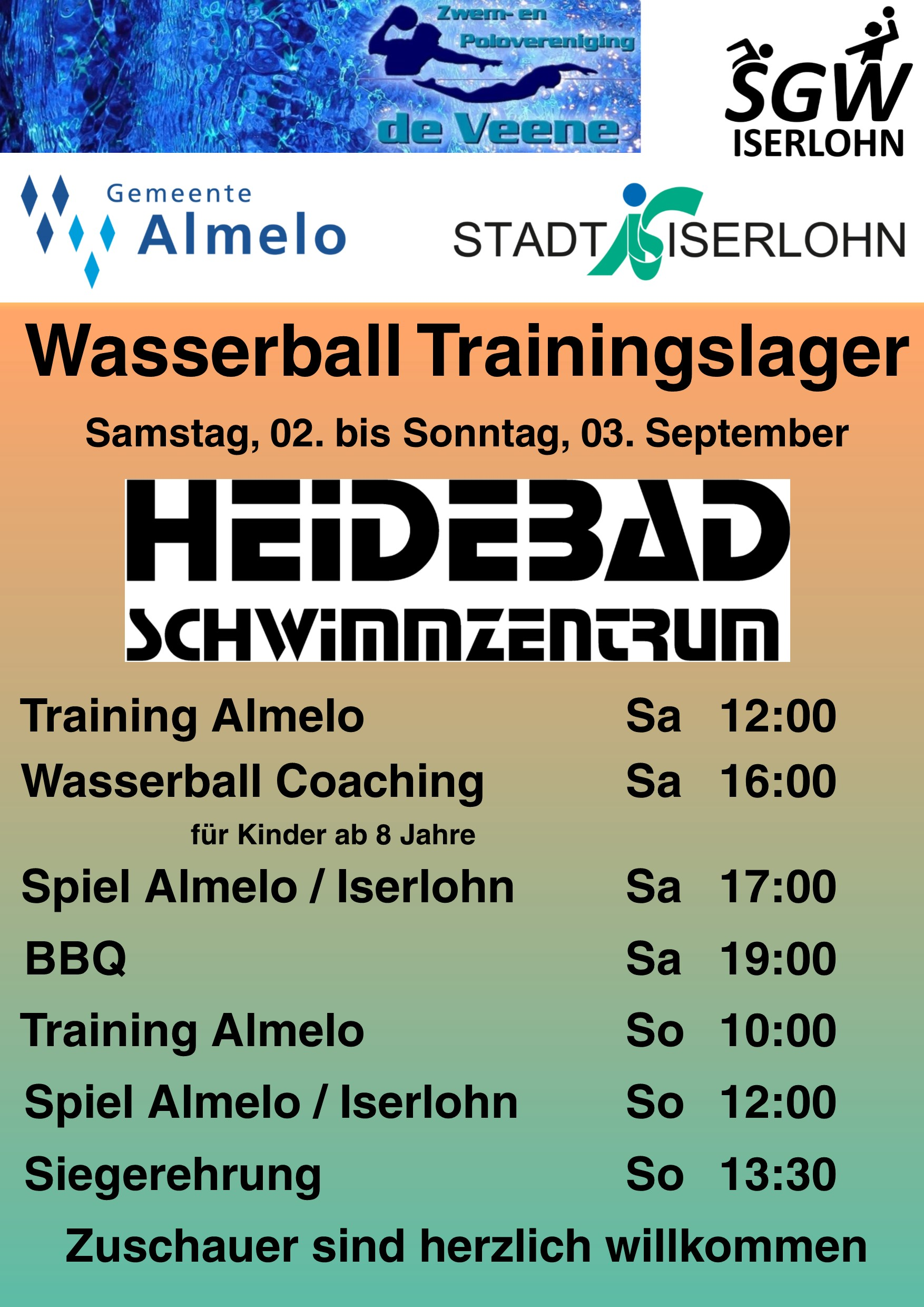Wasserball Trainingslager